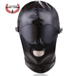 Mascara BDSM Negra con antifaz cinta trasera Mascara Esclavo Amo Juegos BDSM