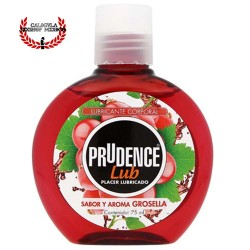 Lubricante Prudence 75ml Sabor Cereza lubricante sexual corporal base agua