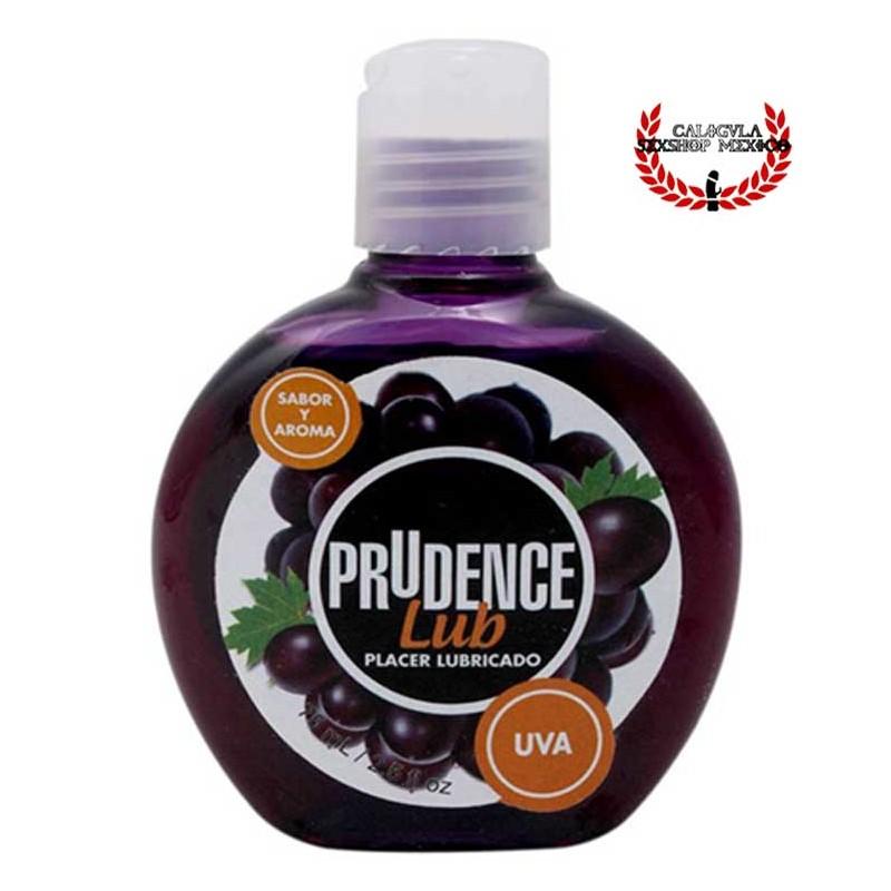 Lubricante Prudence 75ml Sabor Uva lubricante sexual corporal base agua