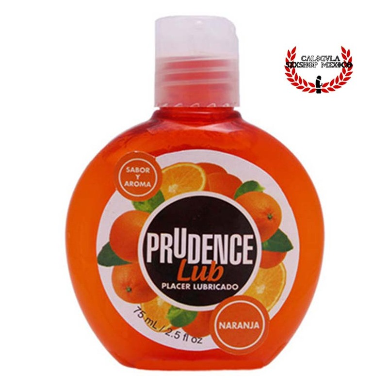 Lubricante Prudence 75ml Sabor Naranja lubricante sexual corporal base agua