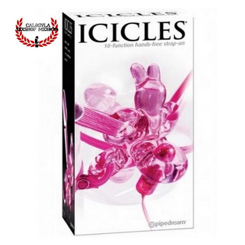 Vibrador Mariposa de Cristal 12 cm Pipedream Icicles N34 Vibrador para dama Clítoris Punto G