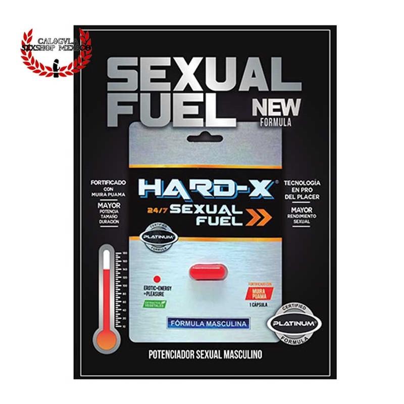 Afrodisíaco Masculino Potenciador Sexual Mejora la Erección Hard X Sexual Fuel Platinum