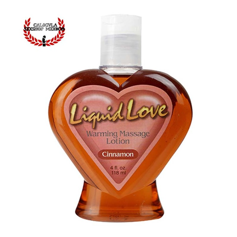 Aceite para masajes eróticos sabor canela Liquid Love Warming Massage Lotion
