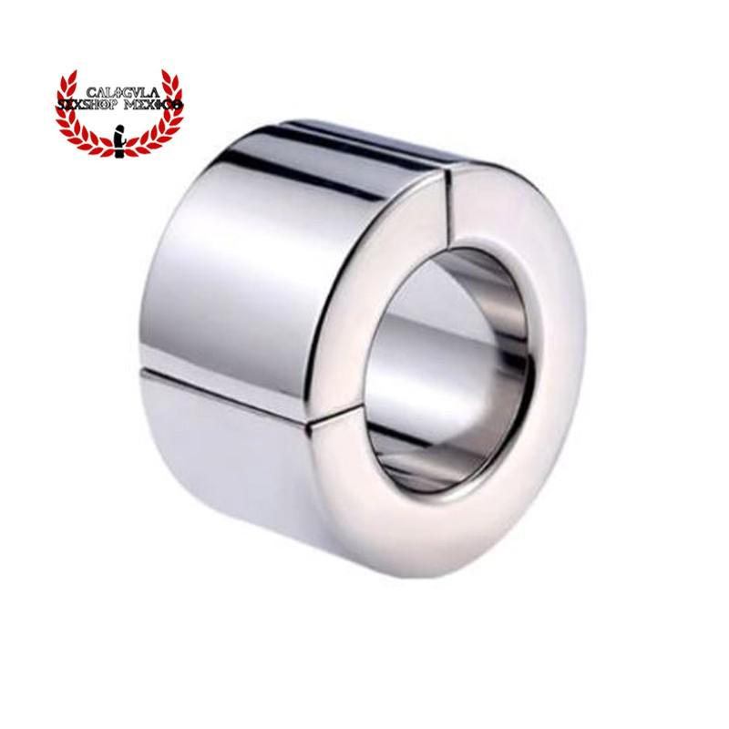 Anillo Metálico 40mm anillo cierre magnético Cockring para Testículos y pene BDSM Fetish