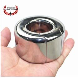 Anillo 62mm Cock Ring en Bola de Metal colgante para escroto anillo de retención para pene BDSM
