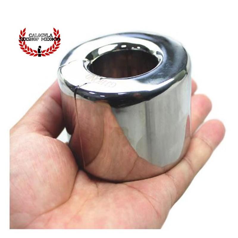 Anillo 40mm Cock Ring 950g en Bola de Metal colgante para escroto anillo de retención para pene BDSM