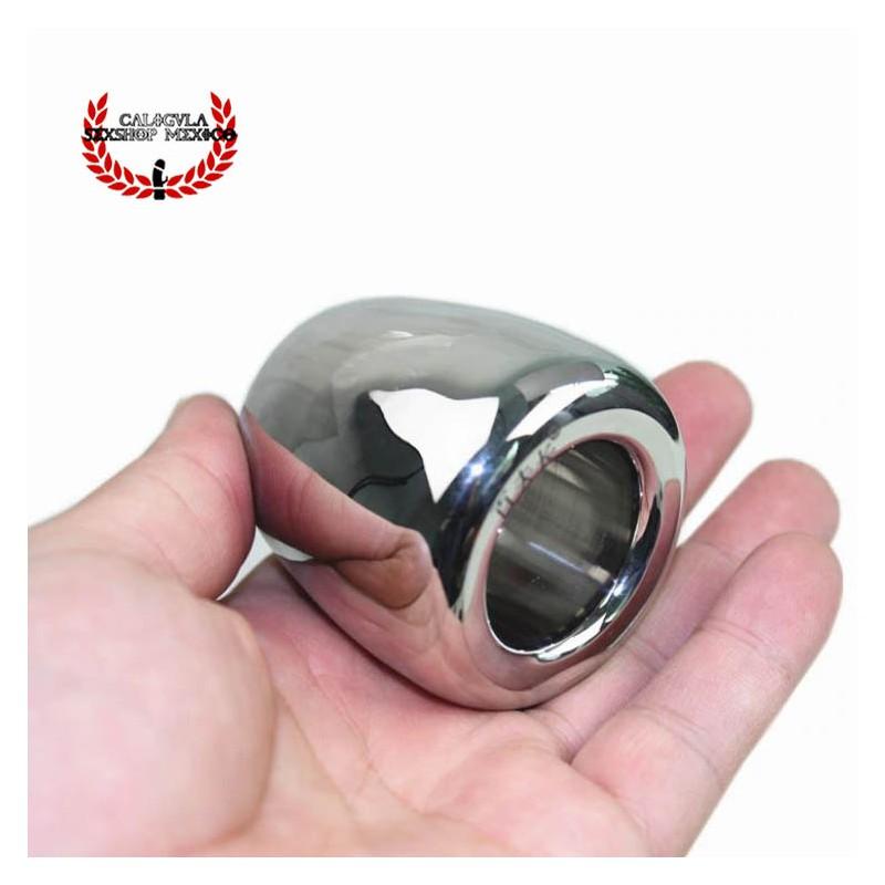 Cock Ring 50mm para testículos escroto BDSM anillo Metálico colgante para tus testículos Sado