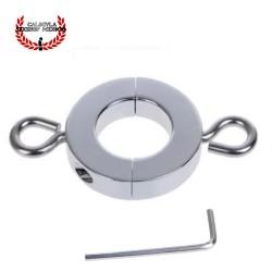 Anillo Metálico 1.3cm para testículos tornillos para Peso extra CockRing escroto BDSM Sado