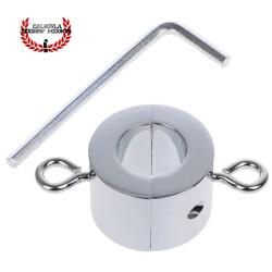 Anillo Metálico 3.8cm para testículos tornillos para Peso extra Cock Ring escroto BDSM Sado