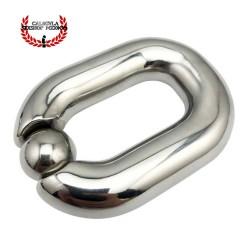 Anillo metalico 24mm para testiculos escroto cierre magnético BDSM Anillo Estiramiento Testiculos