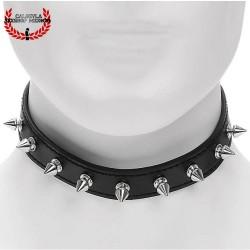 Collar Negro para dama Diseño Picos Metálicos Juegos de Esclavitud Eróticos BDSM