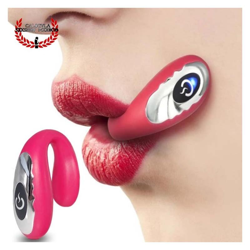 Vibrador para Sexo oral pequeño vibrador Estimulador Sexo oral Punto G o Pene Unisex
