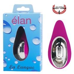 Vibrador pequeño y discreto para estimular tu clítoris silicon color Rosa Elan La langue