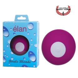 Vibrador esférico de silicona color rosa Clitoris Recargable Elan boule blonde