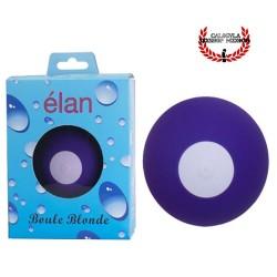 Vibrador 7cm esférico de silicona color Morado Clitoris Recargable Elan boule blonde