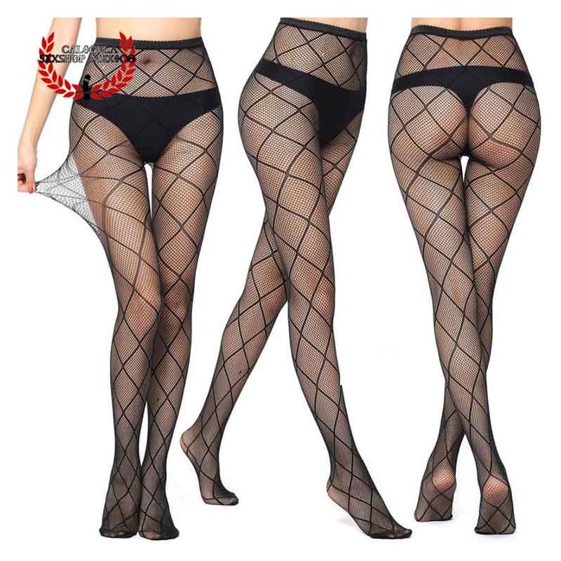 Sexy Pantimedia Completa MOD V6047 Lencería erótica para dama Media Nylon Spandex
