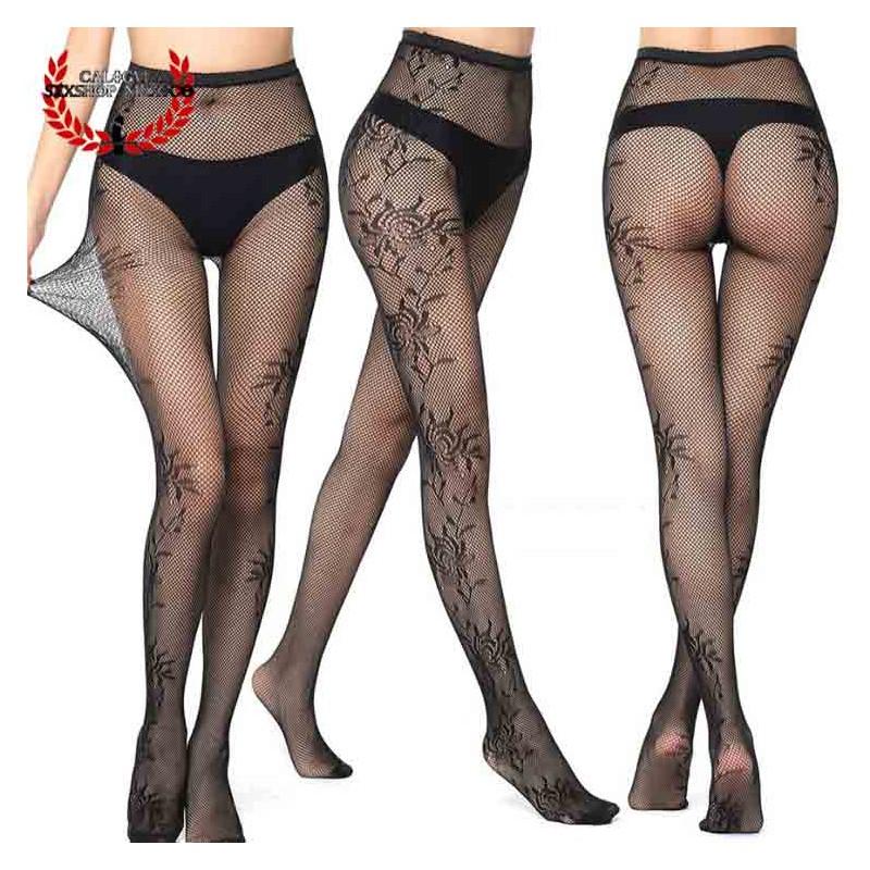 Sexy Pantimedia Completa MOD V6063 Lencería erótica para dama Media Nylon Spandex