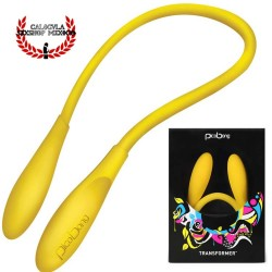 Vibrador Transformer Pico Bong by LELO Color Amarillo Vibrador Flexible Estimulación Sexual