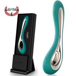 Vibrador ISLA de LELO 22cm Silicón Negro Vibrador LELO para dama estimulación vaginal punto G