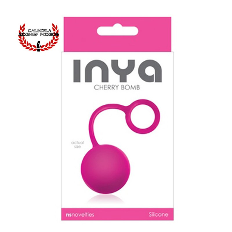Kegel Bola Inya Cherry Bomb NS Novelties Rosa Bola china Vaginal para ejercicios kegel