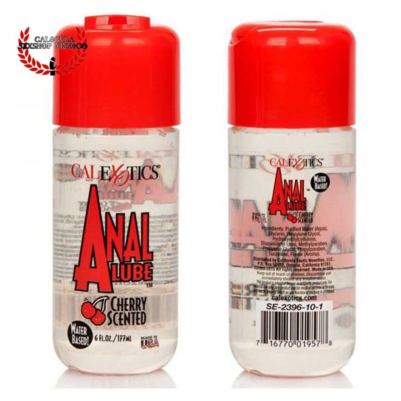 Lubricante Anal CalExotics Aroma y Sabor a Cereza 177ml Lubricante Anal Lube Cherry Scented