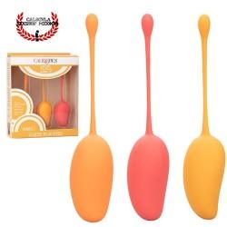 Set de 3 Bolas Vaginales de Silicon para Ejercicios Kegel para tu vagina Kegel Training Set Mango de CalExotics
