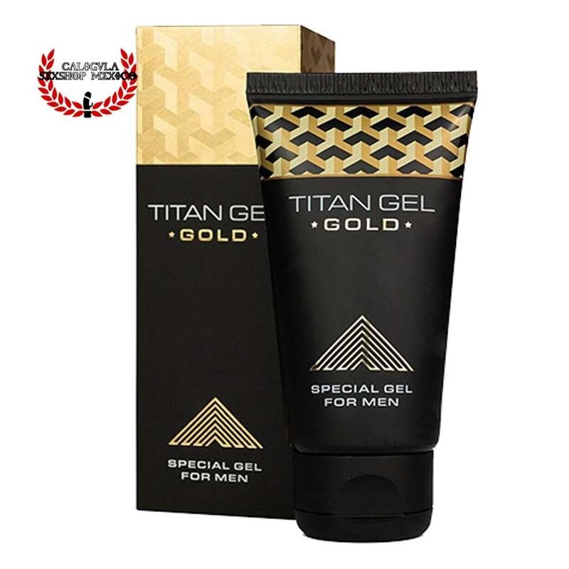 Titan GEL GOLD Formula Premium para mantener tu pene con erección más fuerte y duradera