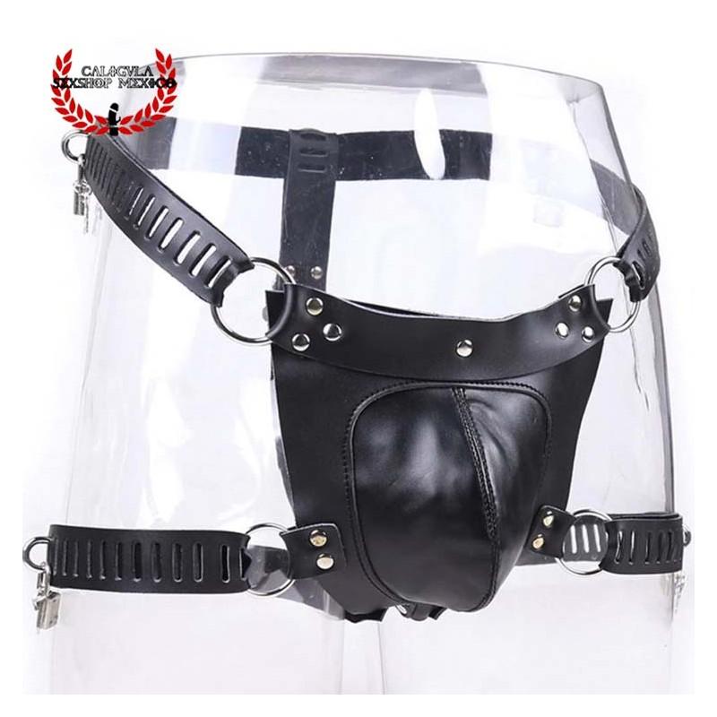 Cinturón de castidad con jaula para pene BDSM Cinturón ajustable de castidad para Hombre BDSM