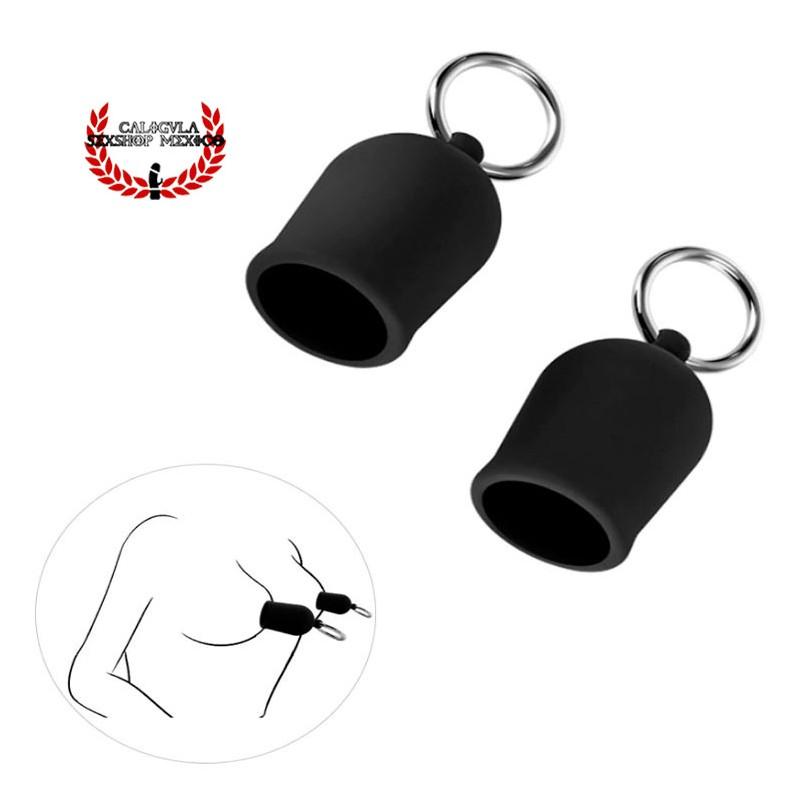 Succionador de pezón erecto de pezón en color negro silicón Estimulación para tu pezón