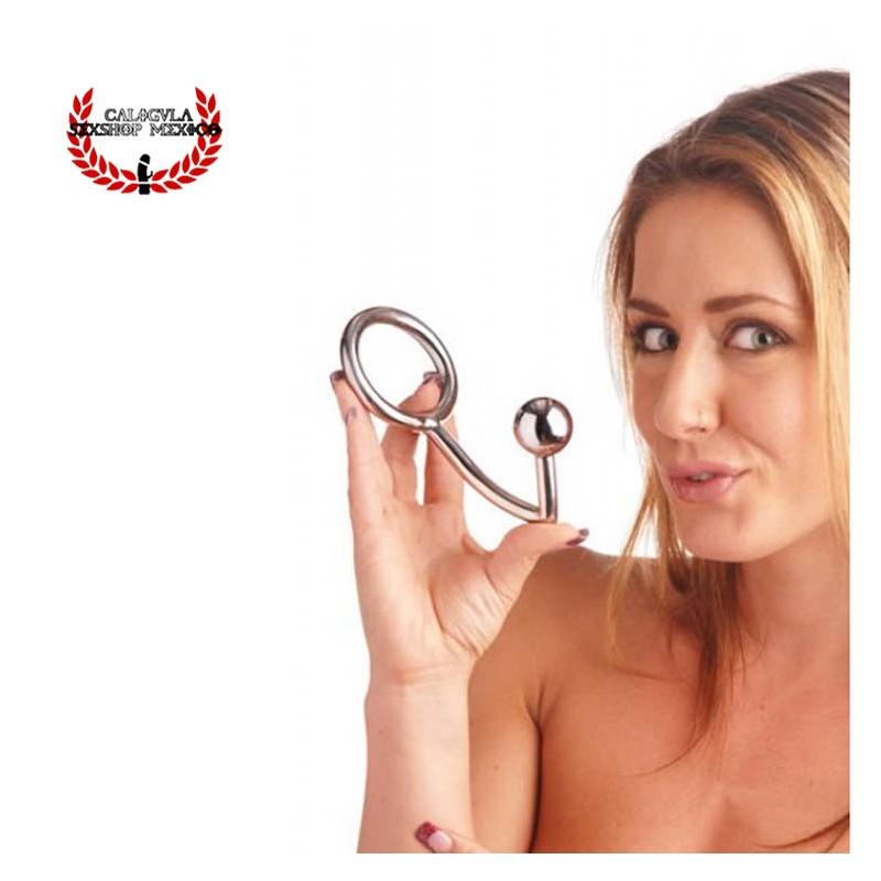 Hook Gancho Anal Metálico Plug Anal Metálico Juegos sexuales de Sometimiento BDSM