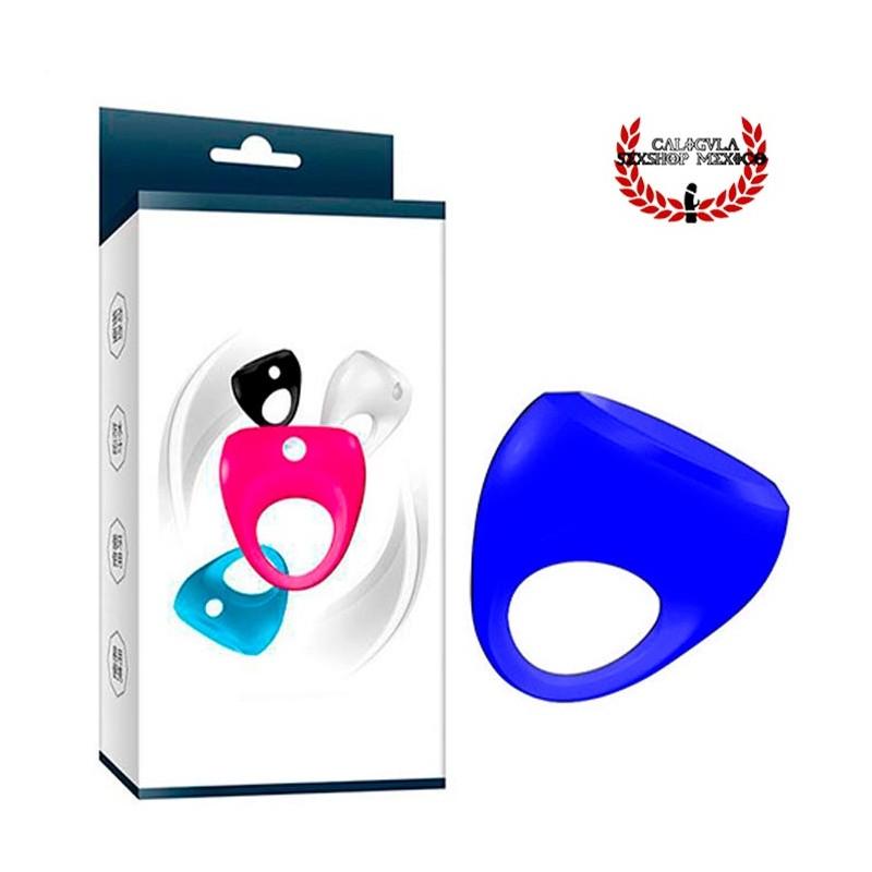 Anillo con vibración para pene Color Azul anillo para pene de silicón con estimulador para clítoris