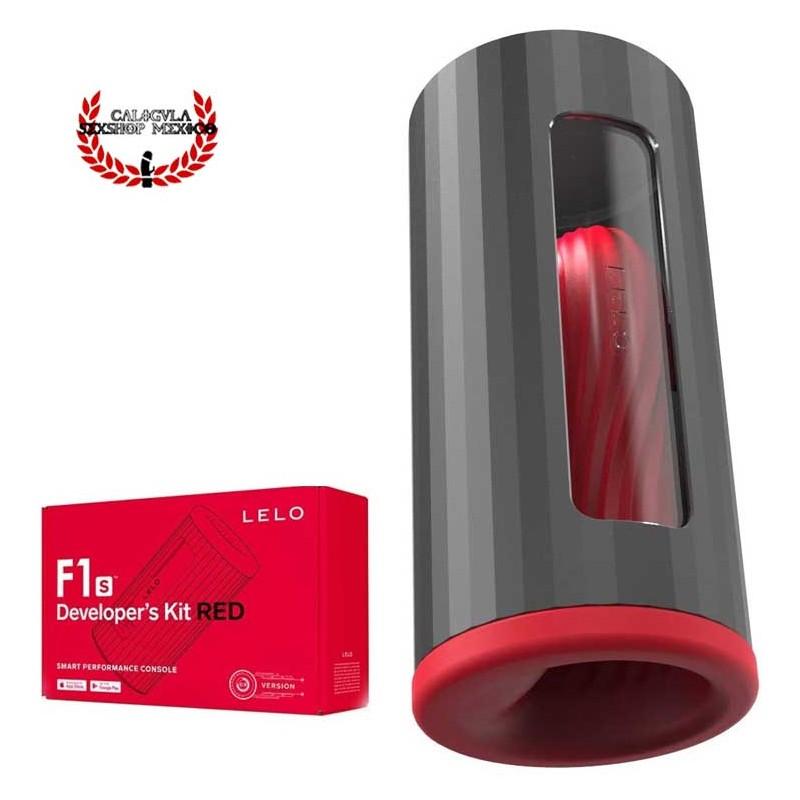 Masturbador para Hombre F1S Developer Kit Red de LELO Vibrador para Pene con Ondas Sónicas