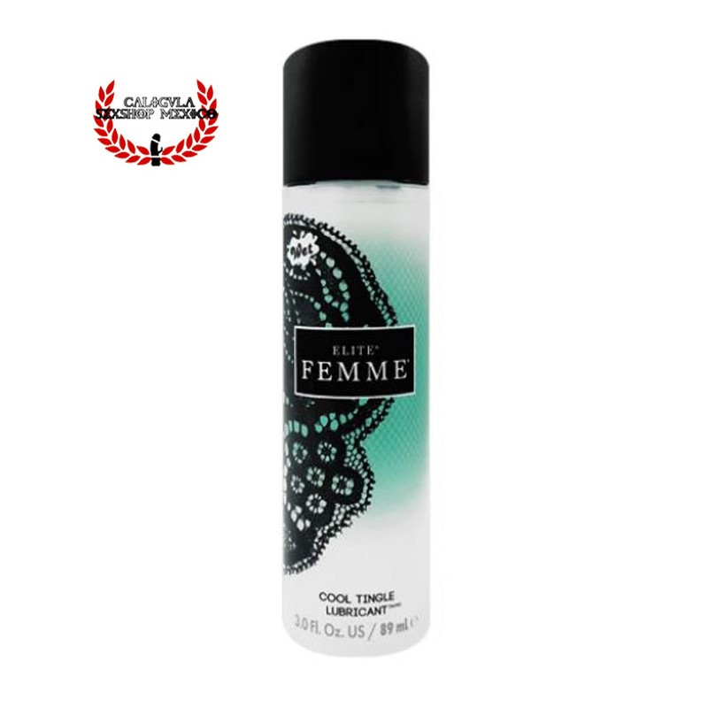 Lubricante Sexual Wet Femme Elite Cool Tingle Lubricante Sexual para Mujeres Base Agua