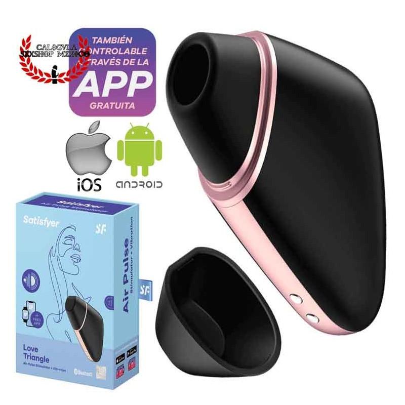 Vibrador Satisfyer Love Triangle Android IOS Estimulación clitoris ondas de presion y vibracion