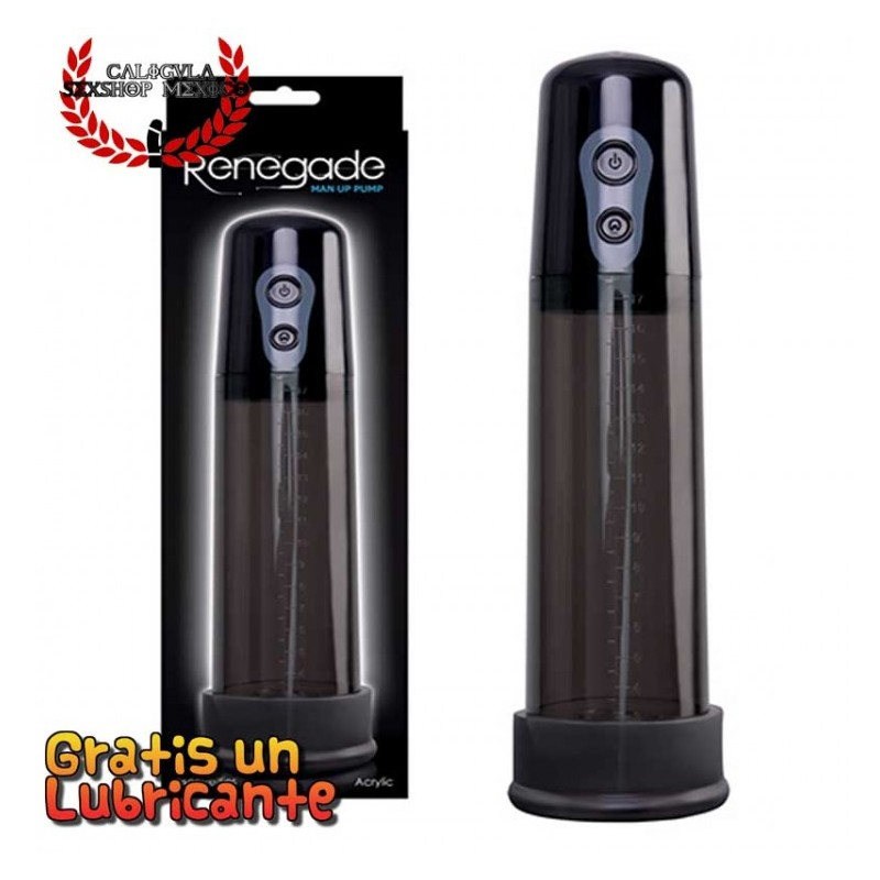 Bomba 25cm automática Renegade Man Up Pump de Nsnovelties bomba de succion para pene