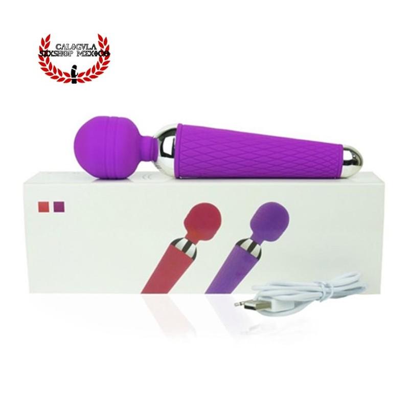 Cabeza Flexible 20 cm Vibrador Sexual de Silicón para Clítoris Ano o Perineo