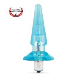 Plug Anal 12 cm con bala vibración color azul Dilatador anal con vibración